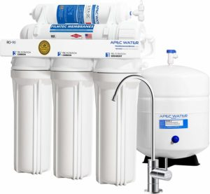 APEC Water Systems RO-90 Ultimate Series Top Tier Supreme Certified High Output 90 GPD Ultra Safe Reverse Osmosis Drinking Water Filter System