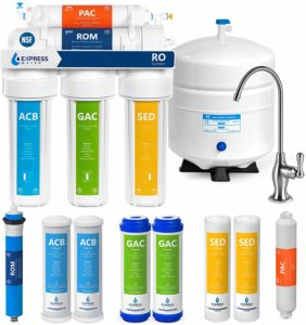 Express Water Reverse Osmosis Water Filtration System – NSF Certified 5 Stage RO Water Purifier with Faucet and Tank