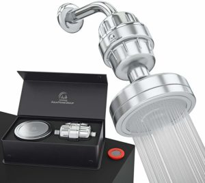 Luxury Filtered Shower Head Set 15 Stage Shower Filter For Hard Water Removes Chlorine and Harmful Substances