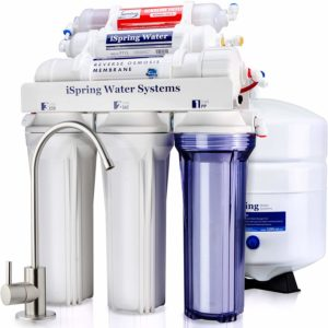 iSpring RCC7AK 6-Stage Superb Taste High Capacity Under Sink Reverse Osmosis Drinking Water Filter System with Alkaline Remineralization
