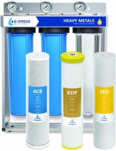 Express Water Heavy Metal Whole House Water Filter – 3 Stage Home Water Filtration System