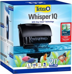 Whisper IQ Power Filter for Aquariums, With Quiet Technology 20 gallons
