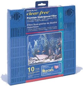 Penn Plax Premium Under Gravel Filter System - for 10 Gallon Fish Tanks & Aquariums